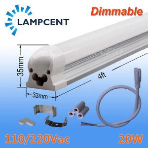"2-8/Pack T8 Integrate LED Tube Light 4FT 1.2m 48"" 20W Dimmable Bulb Lamp Fixture"