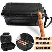 Portable 15 Cigar Tube Travel Case Humidor Caddy Box Waterproof Home Humidifier