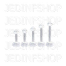 Retainer Hider - Labret Lip Stud | 1.6mm (14g) - 8mm 10mm | Acrylic - O-Ring