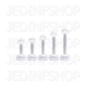 Retainer Hider - Labret Lip Stud Monroe   1.6mm (14g) - 10mm   Acrylic - O-Ring