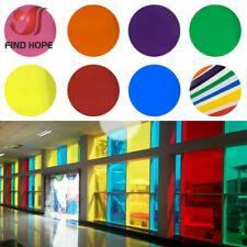 Multicolor Decor Solar Tint Glass Window Film Self Adhesive Transparent 20*120cm