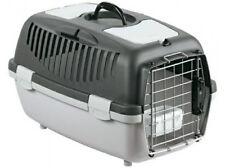 Trasportino gulliver 2 delux per cani gatti colore grigio chiaro/scuro 55X36XH35