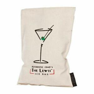 "Franmara Lewis Ice Bag Canvas 11"" Vintage Ice Crusher Professional Cocktail Bar"