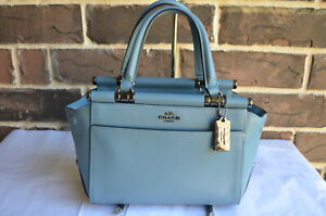 NWT $295 Coach Grace 20 crossbody satchel 31918 Chambrey blue