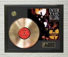 """Wu Tang Framed wood Legends Of Music LP Record Display. """"C3"""""""