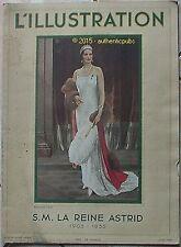 L'ILLUSTRATION JUIN 1936 S.M. LA REINE ASTRID ALBUM BELGIQUE EVENTAIL GUEQUIER