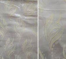 """PRETTY vtg 1960s IVORY CHAMPAGNE YELLOW SATIN PAIR OF CURTAINS 1950s 30""""w x 73""""d"""