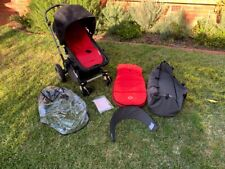 Bugaboo Cameleon 3 stroller WITH BASSINET and red footmuff