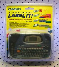 Casio KL-100 Label Thermal Printer Hand Held Portable Electronic Maker Machine