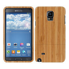 kwmobile Holz Schutz Hülle für Samsung Galaxy Note 4 Bambusholz Natur Hellbraun