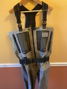 Simms G4Z professional guide stockingfoot waders size L (9-11) made in USA