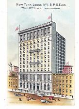 ELKS NEW YORK LODGE # 1, SOUTH SIDE OF 43RD ST WEST OF FIFTH AVE, NYC