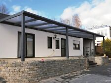 ALU Terrassenüberdachung mit VSG Glas Terrassendach Carport 3 x 2 Meter