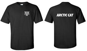 ARCTIC CAT SNOWMOBILE Short Sleeve BLACK T-shirt SIZES TO 5XL XF ZR ATV l/c back