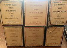 Lot of 6 Rare Duo-Art Music Aeolian Pipe Organ Player Piano Rolls