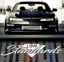 "Low Standards windshield sticker 24"" 60cm windscreen classic car JDM Mugen decal"