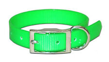 """Dog Collar - 3/4""""  Terrier, Whippet, Puppy, Pet, Hunting - Lime Green"""