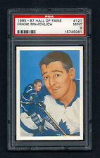 PSA 9  FRANK MAHOVLICH  1985 Hockey Hall of Fame Card #121