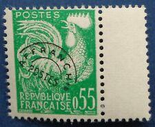 France, préoblitéré n°122, 55c type coq, N**, 1960
