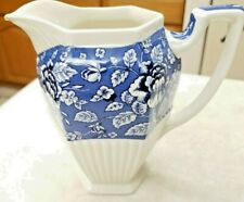 Sadler Pitcher Afternoon Tea Collection Blue Hot Water Jug Made in England