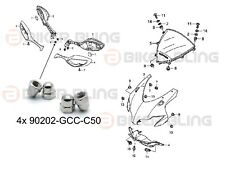 4x Honda CBR1000RR 2008-2011 stainless domed nuts part number: 90202-GCC-C50