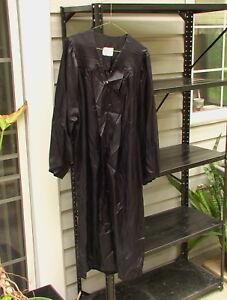 Jostens black graduation gown size 58 (5 feet 8 inches), 100% Acetate