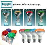 Crompton 240V ES E27 R63 R64 R80 Coloured Reflector Spot Lamps