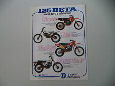 advertising Pubblicità 1981 MOTO BETA CR 125 CROSS/TRIAL/RCE ENDURO/SCRAMBLER