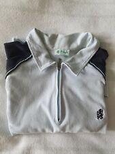 Mens Pringle Golf Polo Shirt. Zip.Light Blue/Navy. XL. Good condition