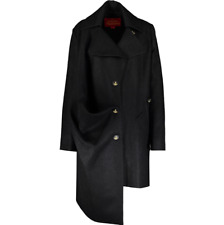 BNWT VIVIENNE WESTWOOD GREY RED LABEL DRAPED COAT ORB BUTTONS 40/UK 8 10 12 £915