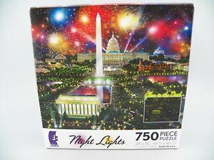 Ceaco Night Lights Glow in the Dark Jigsaw Puzzle 750 Pc Washington, D.C. NEW