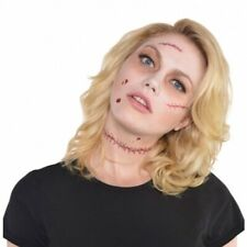 Halloween Wounds Artificial Fake Tattoo Scars Horrorwunde Zombie Latexwunden