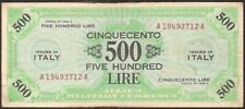 ITALY 500 LIRE 1943 P:M22a  F