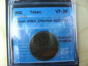 LC-17A1 CCCS VF-30 Mullin Commerce Montreal Lower Bas Canada token Breton 563