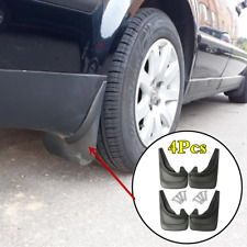 Black 4Pcs ABS Soft Plastic Car Mud Splash Flap Guard Mudguard Protector Fender