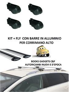 Chevrolet Nubira II Sw (05>09) Kit Barre in Alluminio Portatutto (RAIL APERTI)