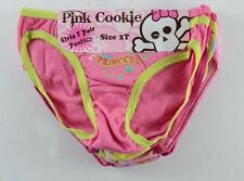 Pink Cookie Girls Panties Toddler 4T 7 piece Lot underwear Christmas Gift NEW