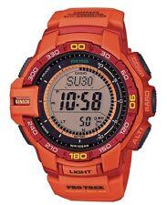 Casio Pro Trek * PRG270-4A Triple Sensor Ver.3 Solar Orange & Red COD PayPal