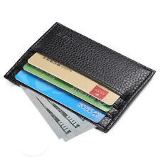 Mens Slim Leather Wallet Card Holder Front Pocket Wallets Credit ID Pocket Thin