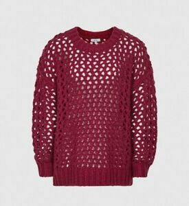 reiss Open-knit Oversized Jumper Natalie Size M (RRP £ 145)