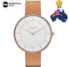 BNIB SKAGEN Gitte SKW2258 Rose Gold Case Tan Leather Ladies Watch Au Wty $299