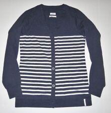 Burton Womens Long Sleeve Button Up Cotton Blend Knit Cardigan Medium