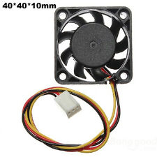 NEU MINI 3 Pins 40mm PC Computer CPU Kühler Lüfter Ventilator DC 12V 9 Klingen