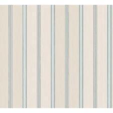 Wallpaper Designer Navy Blue and Aqua Mini Stripe on Gray Faux