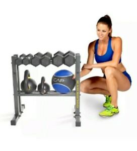 Golds Gym 24 in Steel Utility Rack Stand for Dumbbells Kettle Bells