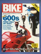 BIKE - April 1993 - BMW R1100RS - Suzuki GSX-R600 - Ducati 750SS - Triumph 900