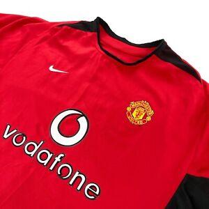 Nike Men's Manchester United Vodafone L/S Soccer Jersey Red • Large