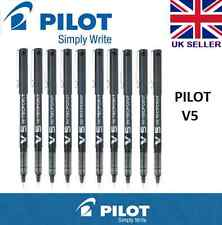 10 x Pilot Hi-Tecpoint V5 Liquid Ink Roller Ball Pen BLACK   0.5