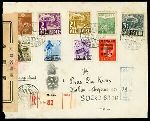 Japanese Occupation: Sumatra Letter send by registered mail by Censor SOERABAIA