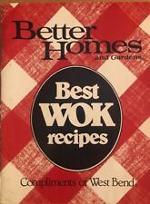 Better Homes And Gardens Best Wok Recipes Compliments Of West Bend 1983